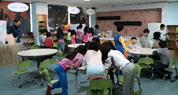 ESL Students Participating in Activities