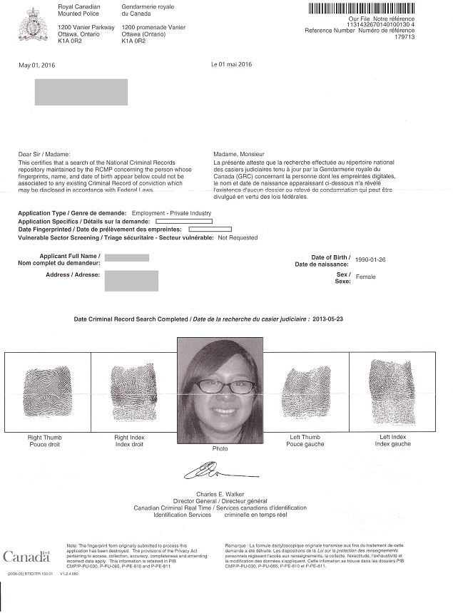 Canadian-RCMP-Background-Check-Example Job Application Form For Canada on part time, sonic printable, free generic, big lots, blank generic,