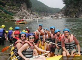 Teachers white water rafting in Korea