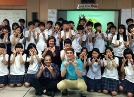 Photo with my Korean students