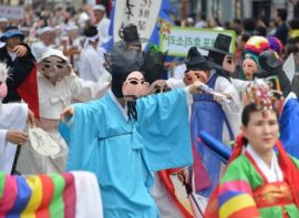 Attending a Korean cultural festival