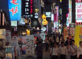 Exploring Koreas neon streets at night