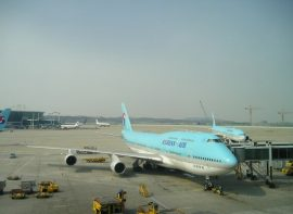 Landing at Incheon airport