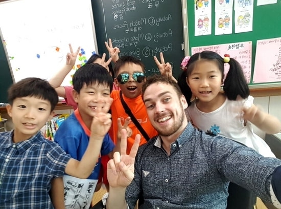 English Teacher and Students